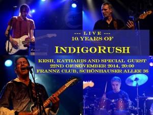Flyer 10 Jahre IndigoRush einzeln