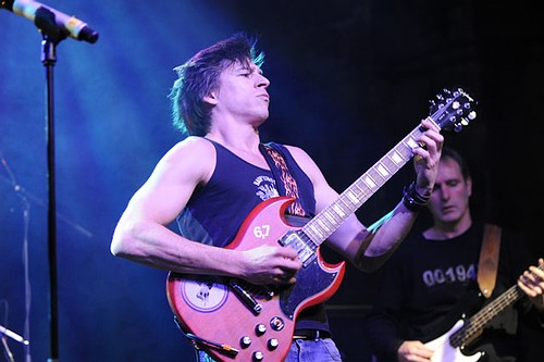 Martin beim AC/DC Tribute